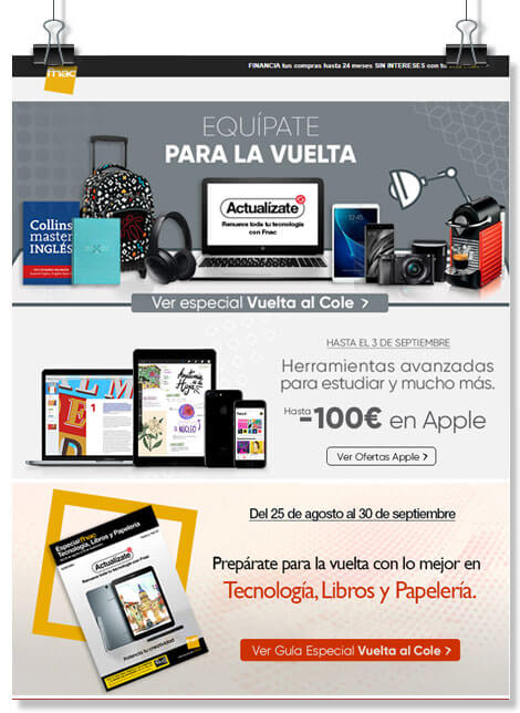 Idea de newsletter vuelta al colegio
