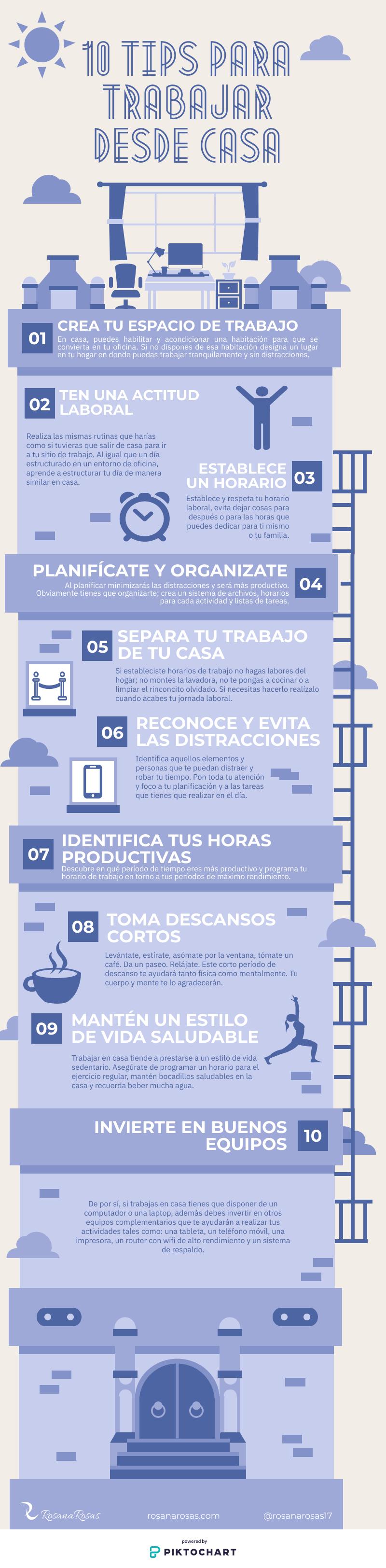 10 Tips para trabajar desde casa