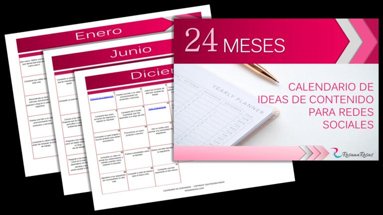 calendario ideas de contenido